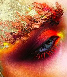 Makeup Inspo, Makeup Art, Makeup Inspiration, Makeup Style, Beauty Makeup, Fire Makeup, Body Makeup, Alaaf You, Phoenix Makeup