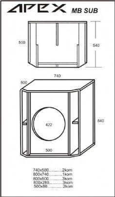 [Es] - Drafts of the sound box, the bass bins, Hair boxes . 12 Subwoofer Box, Subwoofer Box Design, Speaker Box Design, Woofer Speaker, Hifi Speakers, Car Audio Battery, Speaker Plans, Sub Box, Dj Equipment