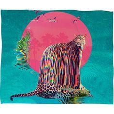 Ali Gulec Jaguar Fleece Throw Blanket | DENY Designs Home Accessories