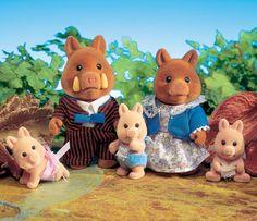 Sylvanian Families Truffle Wild Boar Family