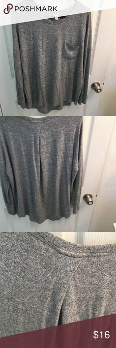 gray sweater cute drop shoulder oversized sweater. Slightly worn. A little too big on me. Sweaters
