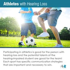Athletes with hearing loss or hearing-impaired students are good for the game. Hearing Impaired, Hearing Aids, Athletes, Improve Yourself, Communication, Students, Good Things, Game, Gaming
