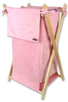 Pink Ultra Suede Kids Hamper (Pink) x x By Trend Lab