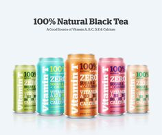 VITAMIN T / 100% NATURAL BLACK TEA by Emanuel Cohen, via Behance