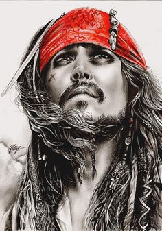 Captain Jack Sparrow. by FreedomforGoku.deviantart.com on @deviantART Absolutely stunning work!!