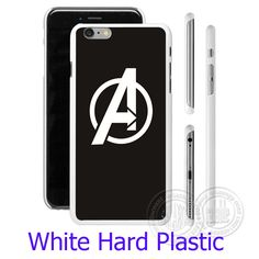 Avengers Rock Logo White Phone Case for iPhone 5S 5 SE 5C 4 4S 6 6S 7 Plus Cover ( Soft TPU / Hard Plastic for Choice )