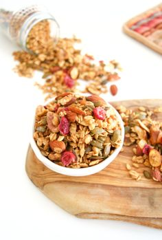 A super healthy and super easy granola. A must for your pantry.