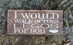 "This adorable and rustic 12"" x 5.5"" wooden sign proclaims the truest and deepest expression of love! Distressed brown background with cream lettering. Custom or"
