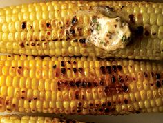 Grilled Corn with Flavored Butters #recipe YUM