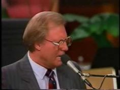 """Jimmy Swaggart: """"He Washed My Eyes With Tears"""" - that I might see - the broken heart I had - was good for me.  Written by Ira Stanphill."""