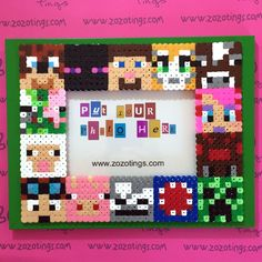 Minecraft photo frame hama beads by Zo Zo Tings
