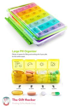 Portable Pill Organizer After surgery, you might have to take a lot of different pills, while some of them making you less Surgery Gift, Cool Fidget Toys, Oil Based Cleanser, Gift Baskets For Men, Pill Organizer, Unicorn Party Supplies, Get Well Soon Gifts, Best Gifts For Men, Pill Boxes