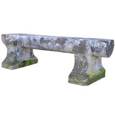 Large Stone Bench, 19th Century   From a unique collection of antique and modern patio and garden furniture at https://www.1stdibs.com/furniture/building-garden/garden-furniture/