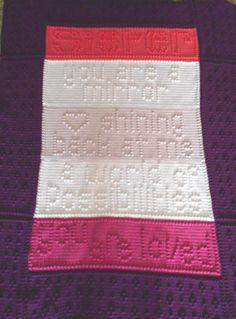 SISTER pattern for crocheted blanket.