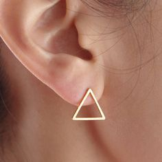 Dreieck Ohrringe, Dreieck Ohrstecker, geometrische von Superarmband auf DaWanda.com