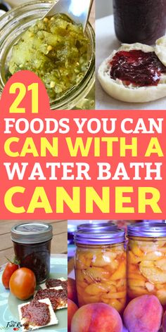 diy food Are you confused about what foods can be preserved in a water bath canner versus a pressure canner? Here are 21 foods you can CAN in a water bath canner! Canning Water, Canning Corn, Canning Salsa, Canning Pickles, Canning Apples, Home Canning Recipes, Canning Tips, Jam Recipes, Kitchen Recipes