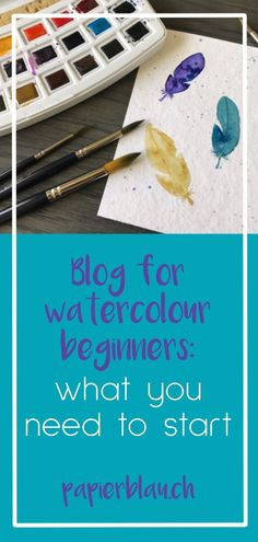 Painting with watercolour is not witchcraft! You can do it too, if you want to. I will show you here which materials you need to get started. Watercolour paper, brushes, watercolour etc. Find out what you really need. Watercolor Beginner, Watercolor Paintings For Beginners, Watercolor Projects, Watercolor Lettering, Watercolor Brushes, Watercolor Paper, Letter Practice Sheets, Simple Pictures, Lettering Tutorial