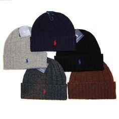 $31 NEW 2012 RALPH LAUREN POLO MEN BEANIE HAT WOOL CAP WINTER WARM ~PICK YOUR COLOR~ #RalphLauren #Beanie