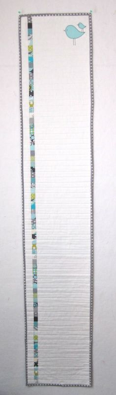 "Quilted growth chart, with 1"" square!  Miss Stash Would: The One Where Everybody Finds Out"