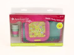 AMERICAN GIRL CRAFTS-Petite Party Settings. Let your dolls join in on the party fun with their own little doll-sized plates and cups! This box four doll-sized plates; four doll-sized cups; and four do...