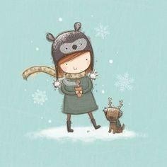 imagenes de invierno para niños ropa