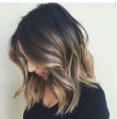 So into this long bob ombre