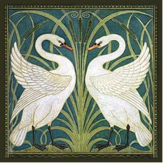 Walter Crane Swan, Rush und Iris Art Nouveau Plaque Source by Personalized_Gifts Design Art Nouveau, Art Nouveau Poster, Art Nouveau Tiles, Art Nouveau Illustration, Art Inspo, Inspiration Art, Walter Crane, Art Nouveau Wallpaper, Of Wallpaper