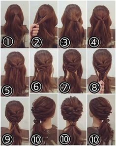 Step by Step Hairstyles Hairstyles for Short Hair Step by Step Tutorial Step by Of 71 Amazing Step by Step Hairstyles Mom Hairstyles, Step By Step Hairstyles, Braided Hairstyles Tutorials, Formal Hairstyles, Hair Tutorials, Medium Hair Styles For Women, Short Hair Styles, Hair Upstyles, Hair Arrange