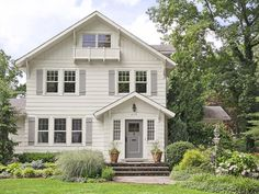 Look closely, and you'll see the Juliet balcony on the second floor of this neutral-colored home #hgtvmagazine http://www.hgtv.com/landscaping/copy-the-curb-appeal-bergen-county-nj/pictures/page-17.html?soc=pinterest