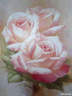 rose oil painting - Pesquisa Google
