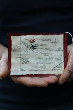 The Hobbit Yule or Christmas Ornament- Lonely Mountain Map