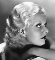"""""""I turned to motion pictures because I had to work or starve"""".  Jean Harlow"""