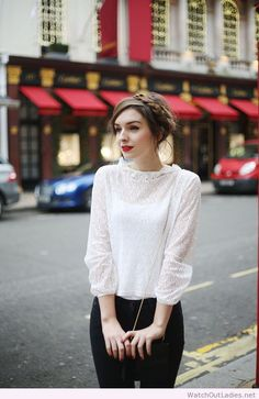 Lovely style with black and white clothes