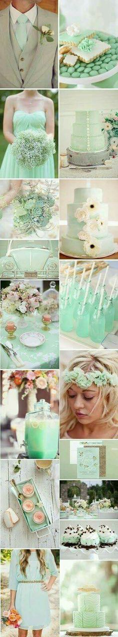 Mint green wedding colour inspiration!