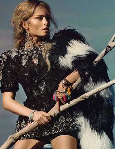 Glamour Italia October 2014 | Olga Maliouk by Signe Vilstrup