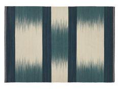 Patola vloerkleed, 160 x 230 cm, turkooisblauwe wol