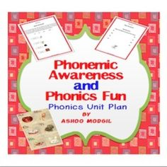The unit plan on phonemic awareness and phonics fun teaches how to decode 3 letter words using synthetic phonics method. The 6 sounds covered in this unit are /a/ /h/ /m/ /r/ /c/ /t/. The lesson explains step by step the how to help children to read in an explicit and systematic manner.   Directions: Print, cut, and laminate the picture cards.   Activity set includes   a) Step-by-step teaching instructions  b) 6 letter cards (1 vowel card and 5 Consonant Cards)  c) Activity Worksheets