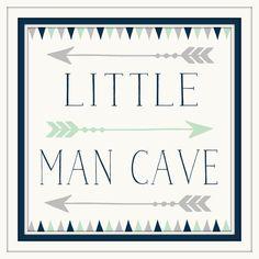 Baby Boy Nursery Decor - Little Man Cave - Navy - Grey - Art with Arrows - Art for little boys - Art for boys room - Art for boys Bathroom by ArtsyPumpkin on Etsy https://www.etsy.com/listing/258488824/baby-boy-nursery-decor-little-man-cave