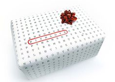Crossword Wrapping Paper
