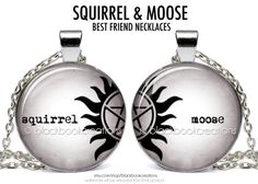 Squirrel and Moose Best Friend Supernatural Inspired Necklaces - Handmade Sam and Dean Winchester #supernatural