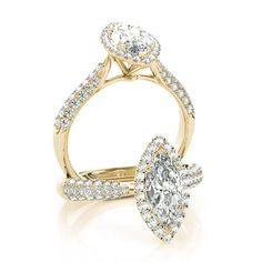 Details about  /14k Yellow Gold Marquise White Topaz filigree Ring