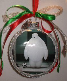 Big Hero 6 inspired tribute Glass Christmas Ornament
