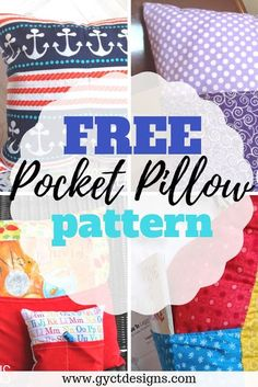 FREE Penny Pocket Pillow Pattern that is great for beginner sewing projects. Makes the perfect addition to a kids bedroom. Sewing Projects For Beginners, Sewing Tutorials, Sewing Hacks, Sewing Crafts, Sewing Tips, Bag Tutorials, Sewing Ideas, Book Pillow, Reading Pillow