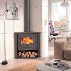 Stufe, climatizzatori e idraulica-Stufa a legna SINTRA nero-35984004
