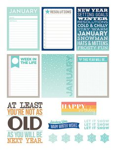 Free January 2015 Journal Cards and Labels from Paper Crafts & Scrapbooking