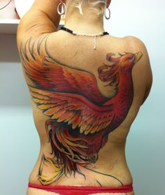 My Phoenix is fierce, strong, determined, and beautiful. It is me, reborn and reinvented as I enter and attack the second half of my life. Artist: Jessie Hopeless, Exile Tattoo, Kansas City, MO