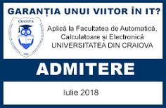 Admitere la facultate 2018