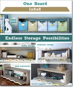 Plenty 'o Storage from One Board | Pretty Handy Girl #oneboardchallenge
