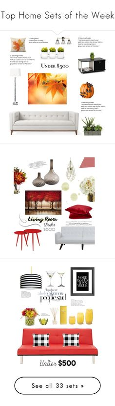 """Top Home Sets of the Week"" by polyvore ❤ liked on Polyvore featuring interior, interiors, interior design, home, home decor, interior decorating, Gus* Modern, Improvements, Furinno and livingroom"