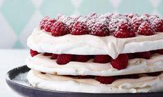 Marengslagkage med hindbær